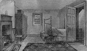 1796 in poetry - The death room of Robert Burns