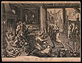 Death visits the paupers' house. Etching by Johan Sadeler af Wellcome V0042094.jpg