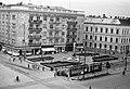 Debrecen, Piac utca - Zamenhof utca sarok környéke (Nagytemplomtól délre). Jobbra a MÁV Igazgatóság épülete. Fortepan 9292.jpg