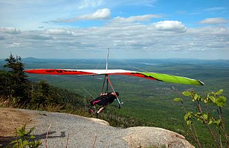 Mont Mégantic - Hang gliding off Mégantic's Mont St.-Joseph subpeak.