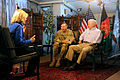 Defense.gov News Photo 110606-D-XH843-002 - Secretary of Defense Robert M. Gates and Commander of ISAF Gen. David Petraeus are interviewed by Diane Sawyer in Afghanistan on June 6 2011.jpg