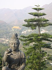 A Guan Yin statue on Lantau Island, New Territories, Hong Kong
