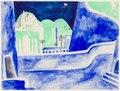 Dekorationsskiss av Isaac Grünewald - Simson och Delila - SMV - DTM 1950-0261.tif