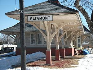 Delaware and Hudson Railroad Passenger Station (Altamont, New York) - Delaware and Hudson Railroad Passenger Station, February 2011