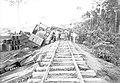Descarrilamento de um Guindaste de Obra em Trecho da Ferrovia Madeira-Mamoré - 630A, Acervo do Museu Paulista da USP (cropped).jpg