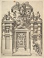 Design for an Architectural Structure with a Hunting Theme , Plate 74 from Dietterlin's Architettura MET DP828567.jpg
