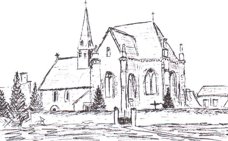 File dessin eglise la bruere sur wikimedia commons - Eglise dessin ...