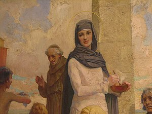 Hilda of Whitby - St. Hilda at Hartlepool by James Clark (Oil Painting)