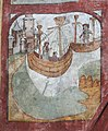 Detail uit de legende van de Heilige Genoveva van Parijs in de zuidelijke transeptarm van de Sint-Genovevakerk van Zepperen - 375534 - onroerenderfgoed.jpg