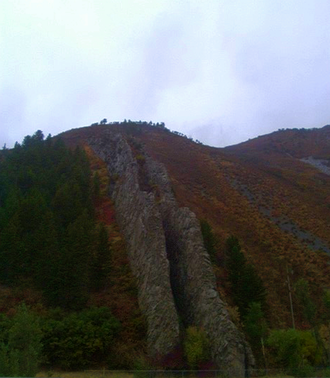 Devil's Slide (Utah) - Front view in Fall of 2008.