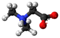 Dimethylglycine zwitterion 3D ball.png