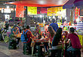 Diners at street cafe in Plaza de la Solidaridad, Mexico City.jpg