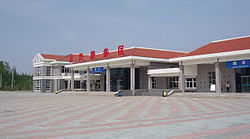 A highway service station in Dingxing