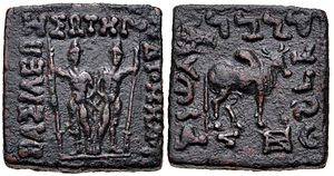 Diomedes Soter - Indian standard coin of Diomedes.