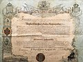 Diploma Vuku Karadžiću za počasnog građanina Zagreba 1861.jpg