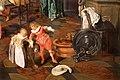 Dirck hals e dirck van delen, banchetto in un interno, 1628, 07 bambini con cane e cappello.jpg