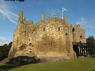 Dirleton Castle castle in East Lothian, Scotland, UK