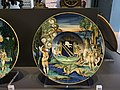 Dish with Perseus and Andromeda, painted maiolica by Nicola da Urbino, c1525.JPG