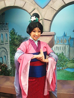Mulan (Disney character) - Mulan at Disneyland theme park in California.