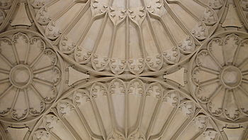 Part of the ceiling of the Divinity School.