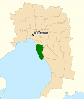 Division of Goldstein - Division of Goldstein in Victoria, as of the 2016 federal election.