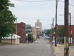 Downtown Dothan, Alabama, looking up Foster St.