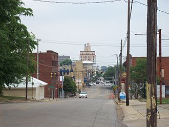 Dothan, Alabama - Looking up Foster St. toward downtown Dothan