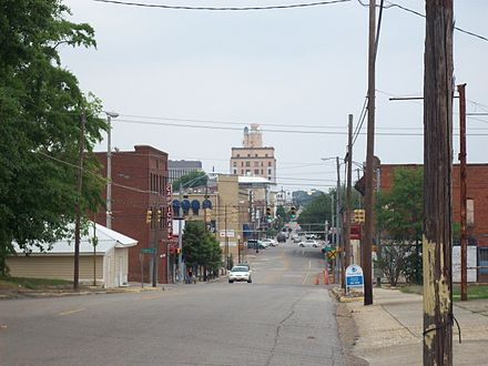 Looking up Foster St. toward downtown Dothan