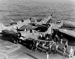 Douglas SBD-3s of VGS-29 on USS Santee (ACV-29), 27 December 1942 (NNAM.1996.253.705).jpg