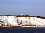 South Foreland lighthouse above the cliffs at Dover
