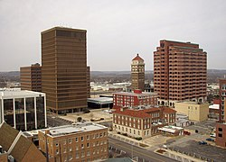 Downtown Bartlesville viewed from the Price Tower (2008)