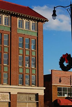 Downtown Fayetteville, North Carolina in December 2010.