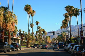 Innenstadt von Palm Springs am Palm Canyon Drive