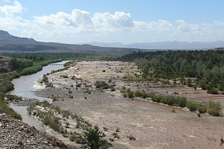Draa River river in Morocco
