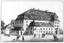 Morettisches Theater, August Mayers Wirkungsstätte in Dresden (1819–1829) (Quelle: Wikimedia)