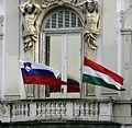 Drugo delovno srečanje Vlade Republike Slovenije in Vlade Republike Madžarske 2009 01.jpg