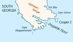 Southeast extremity of Sør-Georgia with Drygalskifjorden