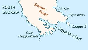 Cooper Island - Southeast extremity of South Georgia  with Cooper Island