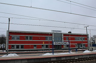 railway station in Działdowo, Poland