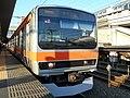 E231-0 Series Kuha E230-22 Musashino Line in Fuchū-Hommachi Station of JR East.jpg