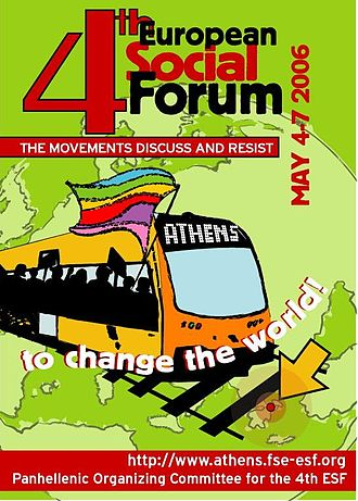 European Social Forum - Athens ESF poster