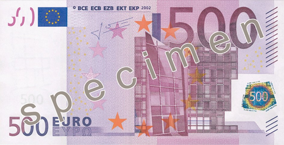 EUR 500 obverse (2002 issue)