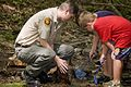 Each summer one of the most popular programs at Hungry Mother State Park is the Critter Crawl where the participants investigate what lives in a creek at the park. - AA (18496811064).jpg