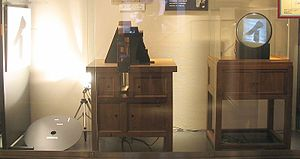 Television in Japan - A recreation of Kenjiro Takayanagi's pioneering 1926 electronic television experiment, at NHK Broadcasting Museum in Atagoyama, Tokyo