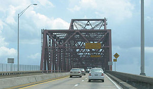 Mathews Bridge - Image: Eastbound Mathews Bridge truss