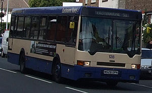 Eastbourne Buses - Bus number 128, a DAF SB220/Ikarus on service 51.
