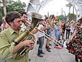 Easter Sunday in New Orleans - Brass Band Jam by Armstrong Arch 01.jpg