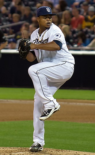 Edinson Vólquez - Vólquez pitching for the San Diego Padres in 2012