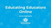 Educating educators online