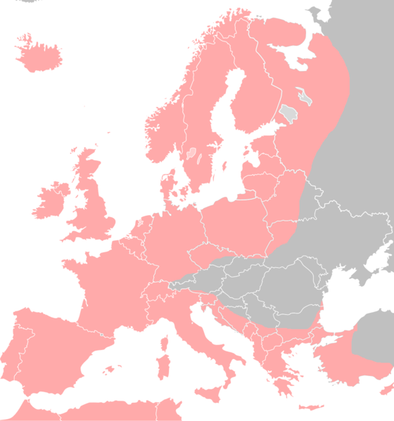 ヨーロッパウナギの分布